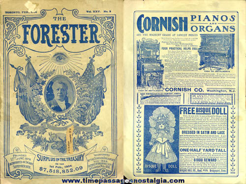 February 1904 Independent Order Of Foresters Forester Publication