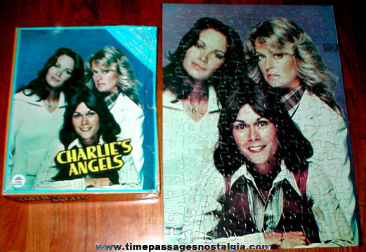 (2) Original 1970's Charlie's Angels Boxed Jigsaw Puzzles