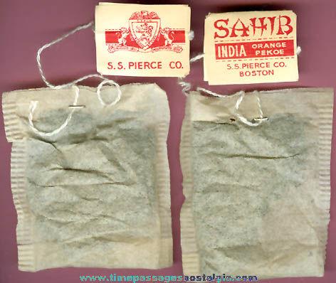 (66) Old Unused S. S. Pierce Company Tea Bags
