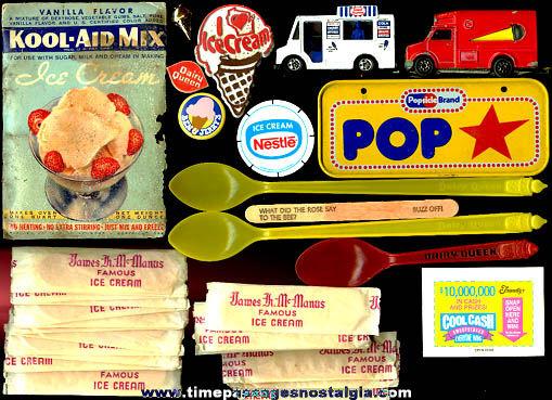 (38) Small Ice Cream Advertising Items