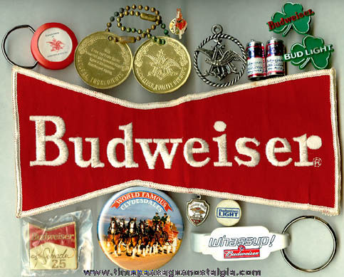 (15) Small Budweiser Beer Advertising Items