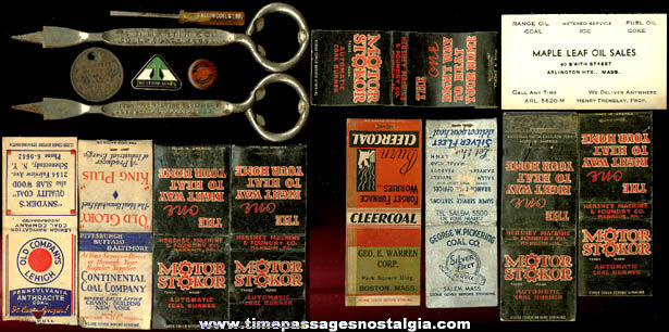 (16) Small Old Coal Advertising Related Items
