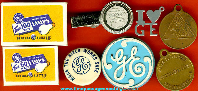 (8) Small Old General Electric Advertising Items