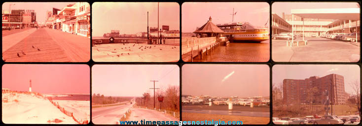 (8) Old Atlantic City & Steel Pier Area Color 35mm Photograph Slides