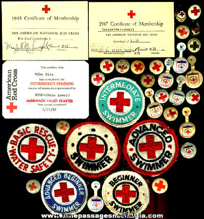 (34) Small Old Red Cross Items