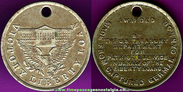 World War I Victory Liberty Loan Homefront Medal Token Coin