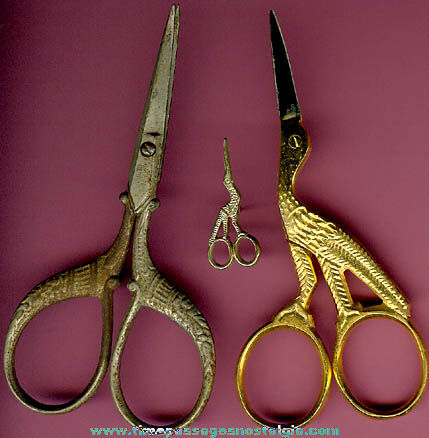(2) Pairs of Sewing Scissors & Pin