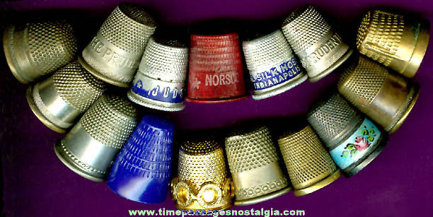 (15) Old Sewing Thimbles