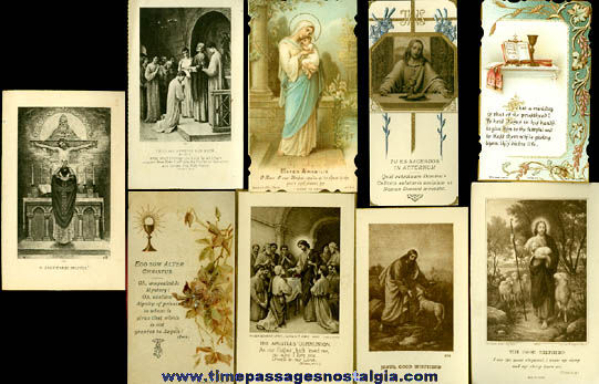 (9) 1922 First Solemn Mass Priest Cards