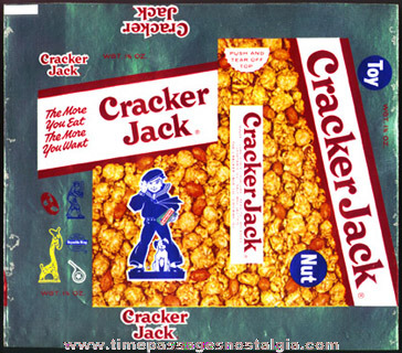 Unused 1950's Cracker Jack Box Foil Wrapper