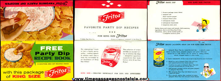 ©1956 Fritos Corn Chips Advertising Premium Recipe Booklet