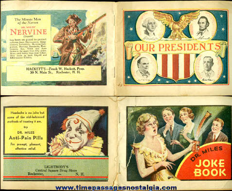 (2) Old Drug Advertising Premium Booklets