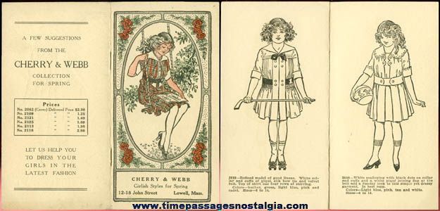 1920's (8) Page Cherry & Webb Girls Dress Brochure
