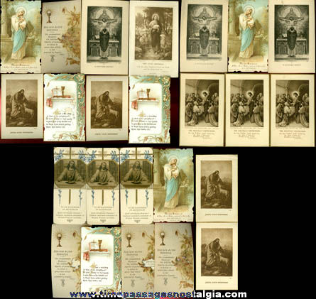 (24) 1922 First Solemn Mass Priest Ordination Cards