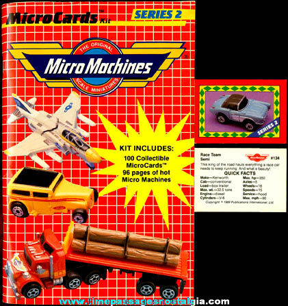 (100) ©1989 Micro Machines Trading Cards With Corresponding Book