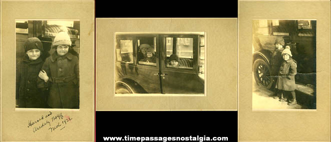 (3) 1922 Mounted Children Photographs