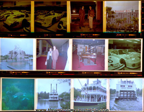 (24) Old Disneyland Color Photo Negatives