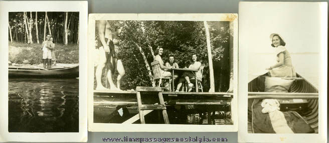 (11) 1946 Camping & Canoeing Photographs