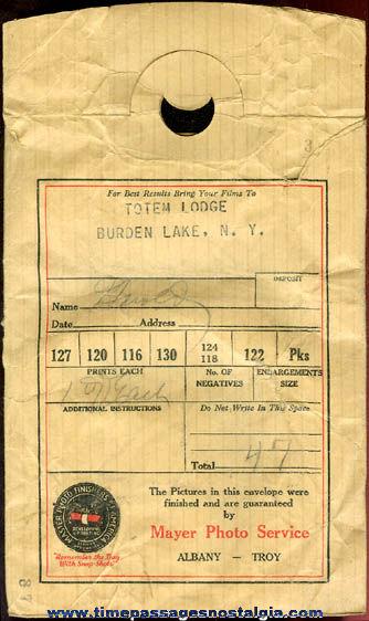 (31) 1920's & 1930's Totem Lodge Burden Lake, New York Photographs