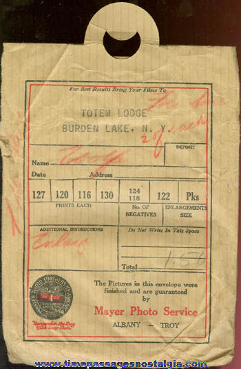 (15) 1920's & 1930's Totem Lodge Burden Lake, New York Photographs