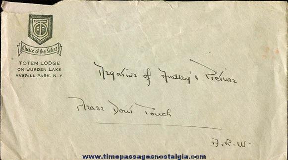 (19) 1920's & 1930's Totem Lodge Burden Lake, New York Photograph Negatives