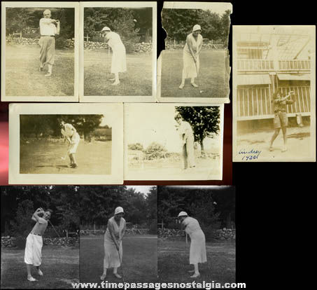 (9) 1920's & 1930's Totem Lodge Burden Lake, New York Photographs & Negatives