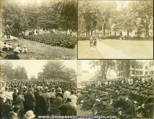 (4) Large Old Graduation Ceremony Photographs