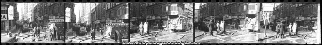 (11) Old Boston, Massachusetts Fire Photo Negatives