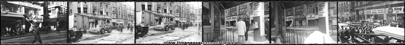 (11) Old Boston, Massachusetts Fire Photo Negatives