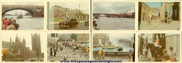 Large Lot Of (85) August, 1968 London England Color Photographs