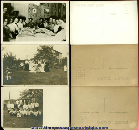 (6) Different Old Real Photo Post Cards