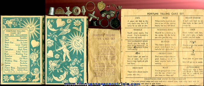 Old Boxed Set Of Fortune Telling Cake Favors