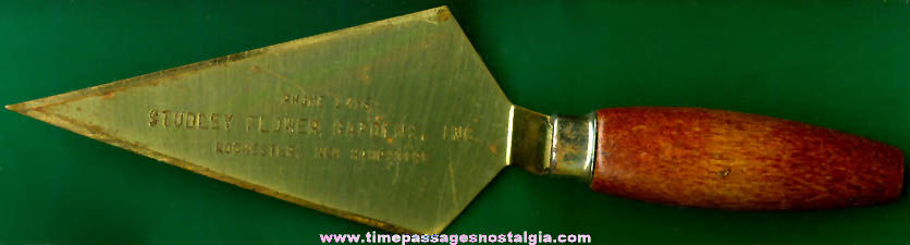 Old Studley Florist Advertising Premium Miniature Trowel