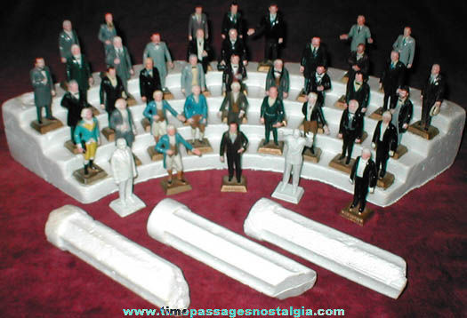 Old MARX U.S. President Figure Set With Extras