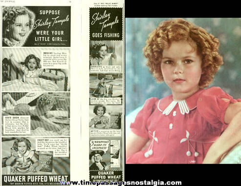 (7) Old Shirley Temple Paper Items