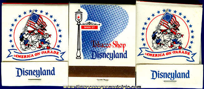 (3) 1976 Bicentennial Disneyland Match Books