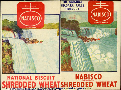 (32) Old Nabisco Shredded Wheat Cereal Box Panels