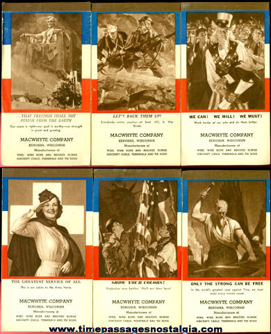 (6) World War II Homefront Patriotic Calendar Booklets