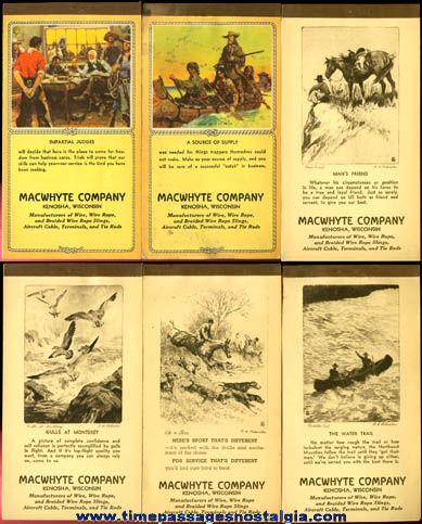(6) 1945 - 1947 Advertising Calendar Booklets