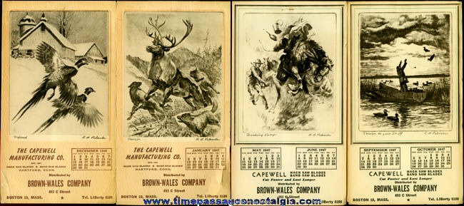 (4) 1946 - 1947 Advertising Calendar Booklets