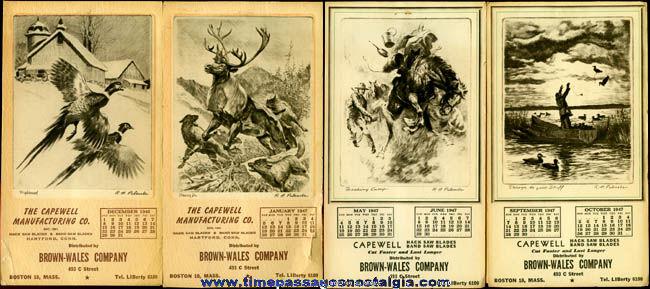 (4) 1946 - 1947 Advertising Calendar Booklets