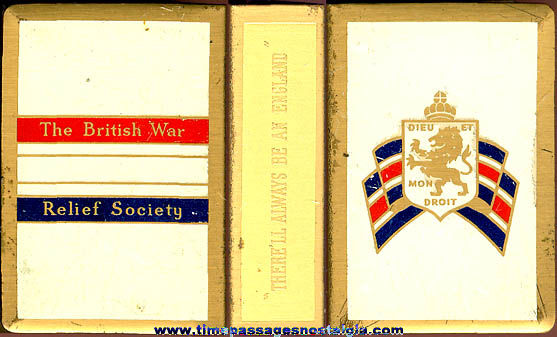Old Metal British War Relief Society Match Box Cover