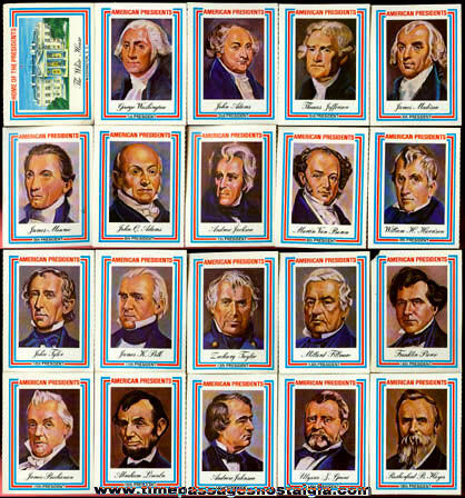 ©1975 Set Of (38) United States President Trading Cards