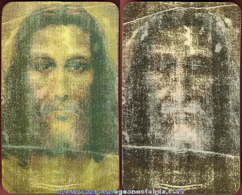 Jesus Christ Shroud Of Turin Flicker / Lenticular Card