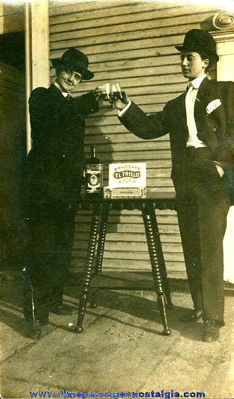 Interesting Old Smoking / Drinking Women Photograph