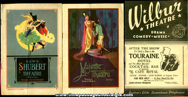 (3) Old Boston, Massachusetts Theatre Program Booklets