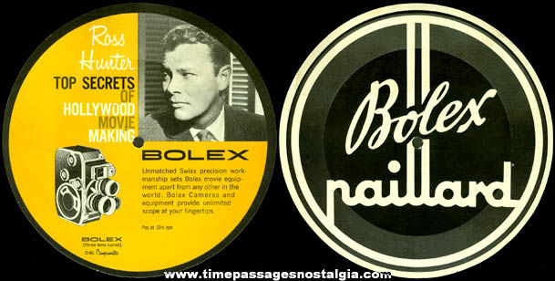 Old Movie Camera Advertising Paper Record