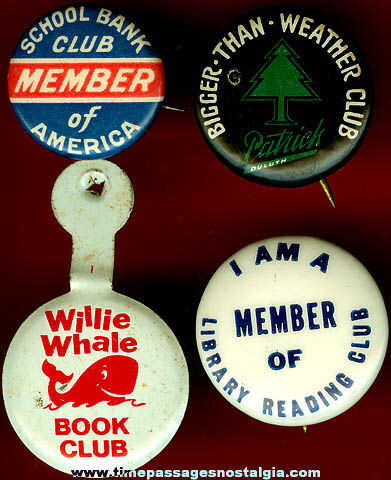 (4) Old Club Membership Advertising Buttons