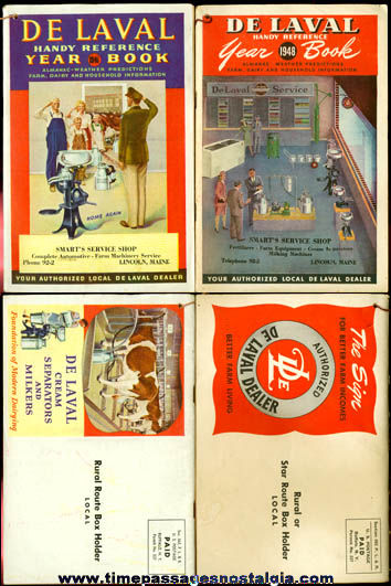 (2) 1940's De Laval Cream Separator & Milker Advertising Year Books