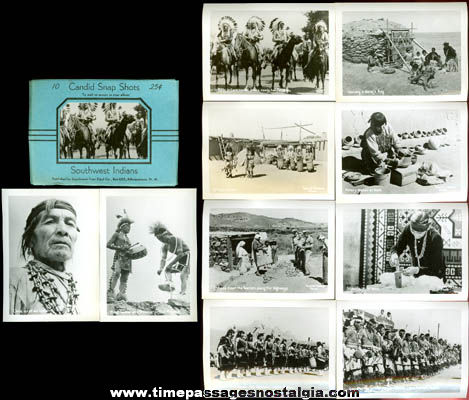 Set Of (10) Old Southwest Native American Indian Souvenir Photographs